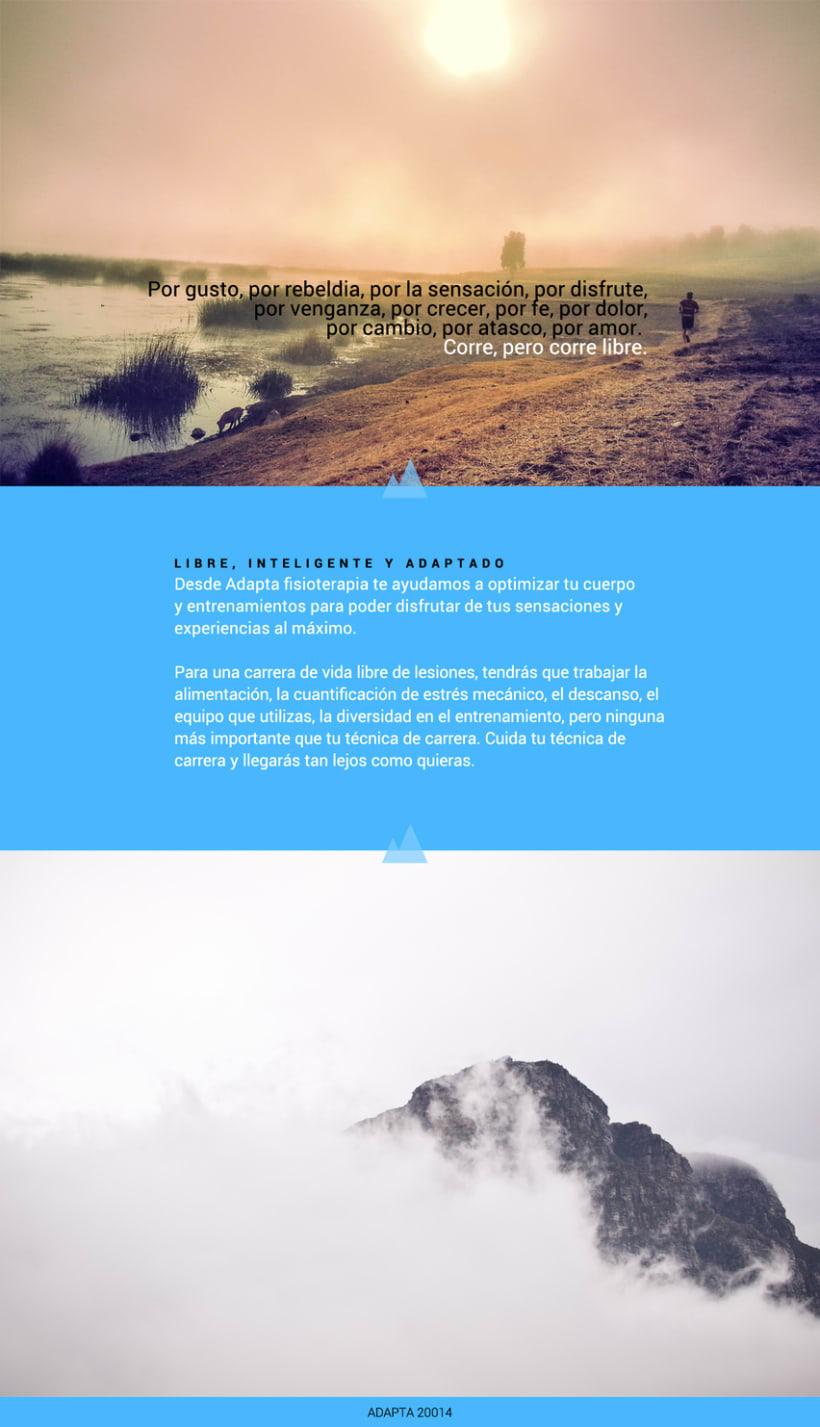 Imagen corporativa y web - Adapta Fisioterapia 8