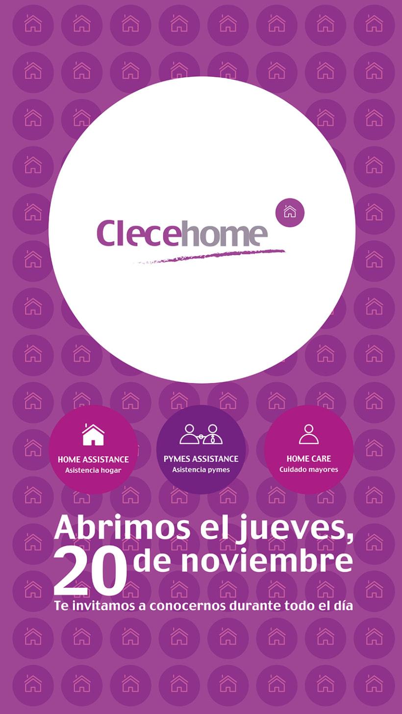 Diseño imagen gráfica y logotipo para la 1ª tienda Clecehome. Madrid 2014 0