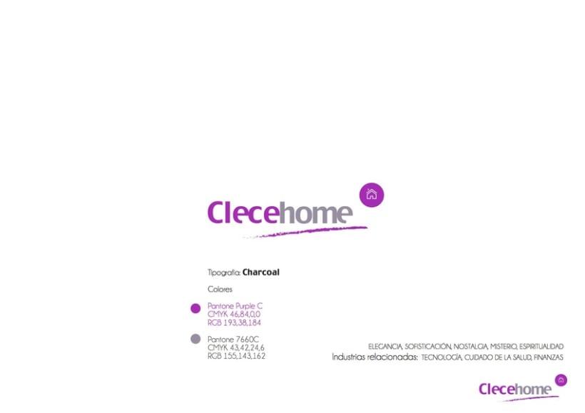 Diseño imagen gráfica y logotipo para la 1ª tienda Clecehome. Madrid 2014 2