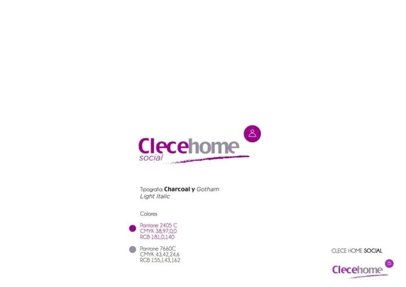 Diseño imagen gráfica y logotipo para la 1ª tienda Clecehome. Madrid 2014 3