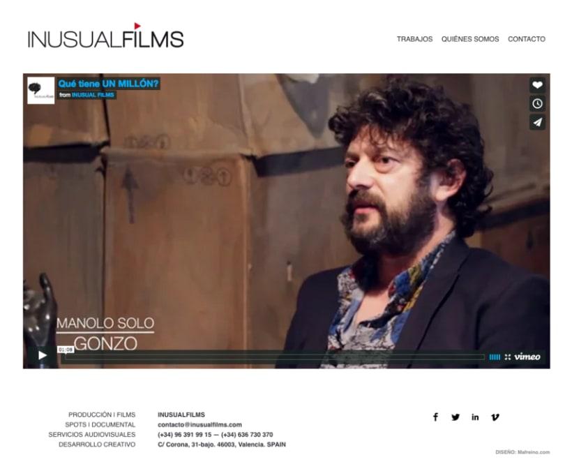 Inusual Films – Diseño web 2