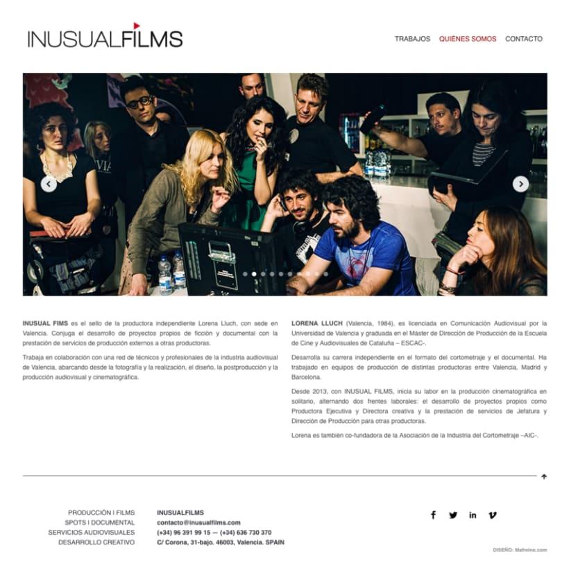 Inusual Films – Diseño web 0