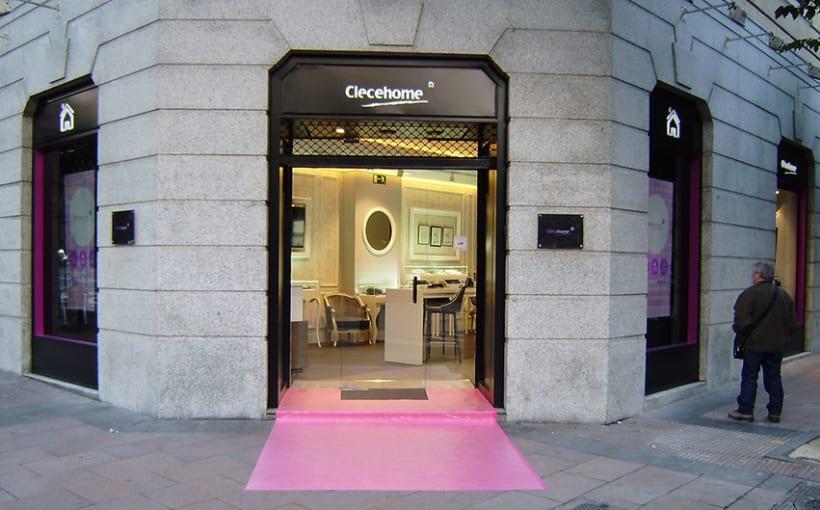 Diseño de interiores y supervisión obra 1ª tienda Clecehome. Madrid 2014. 0