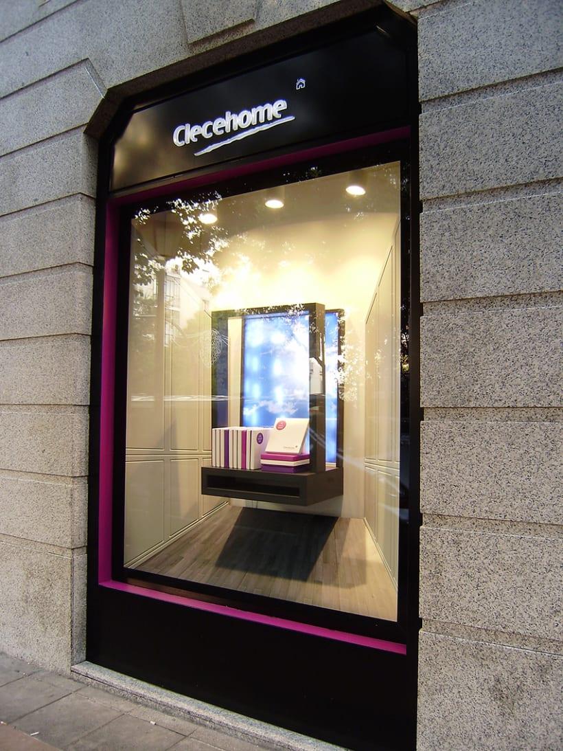 Diseño de interiores y supervisión obra 1ª tienda Clecehome. Madrid 2014. 2
