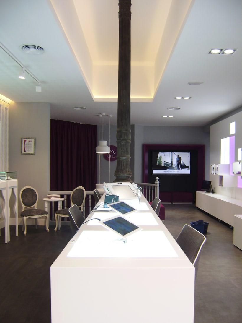 Diseño de interiores y supervisión obra 1ª tienda Clecehome. Madrid 2014. 12