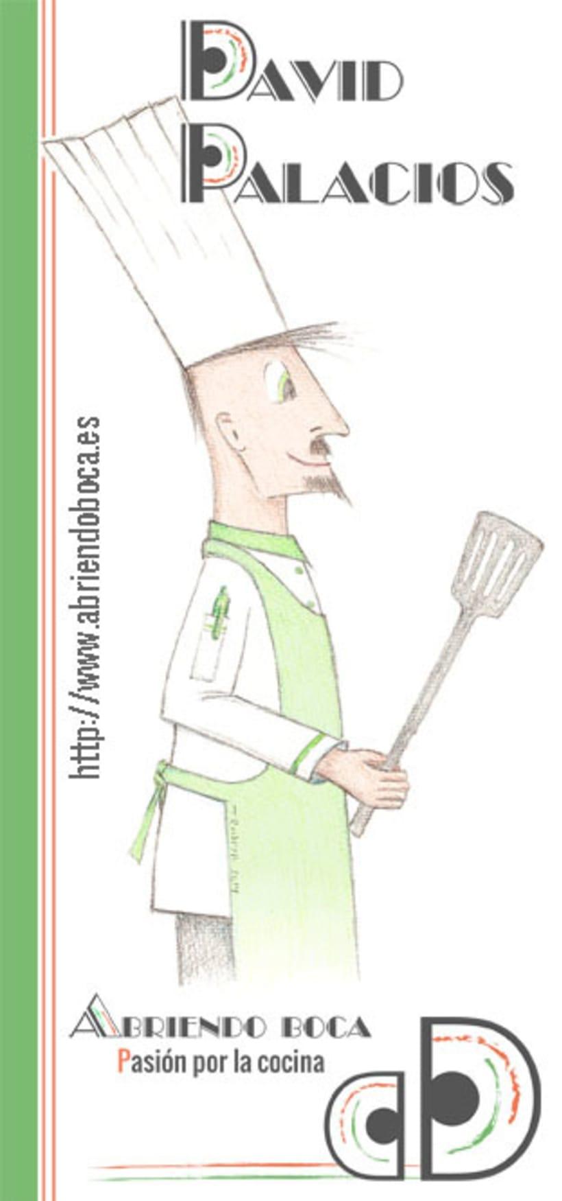 """Imagen corporativa e ilustración """"chef"""" -1"""