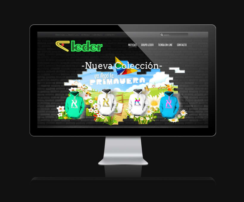 Leder sportwear - campañas website 2012 0