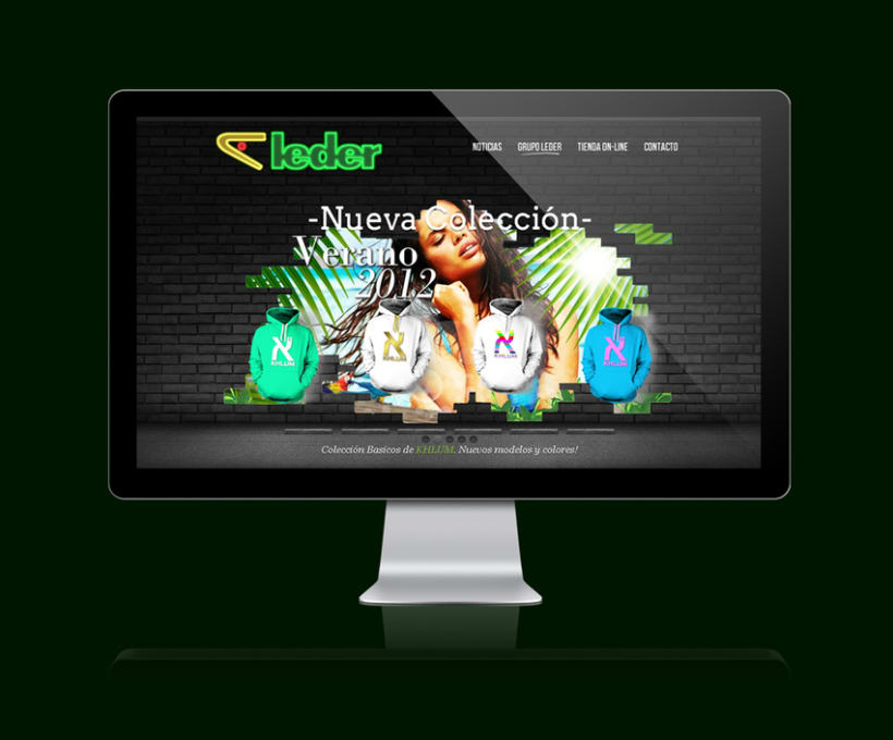 Leder sportwear - campañas website 2012 1