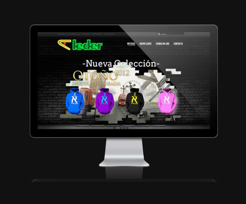 Leder sportwear - campañas website 2012 2