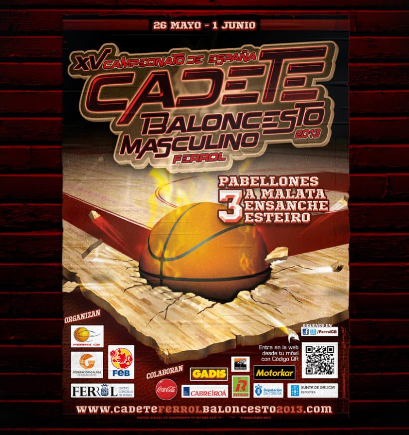XV Campeonato España  CADETE BALONCESTO  Masculino FERROL 2013   0