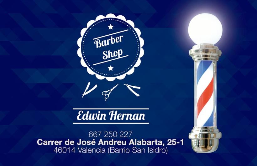 Tarjetas de invitación Barber Shop -1