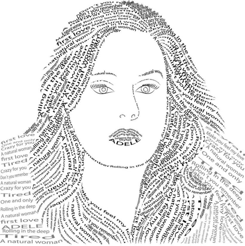 Caligrama Adele 0