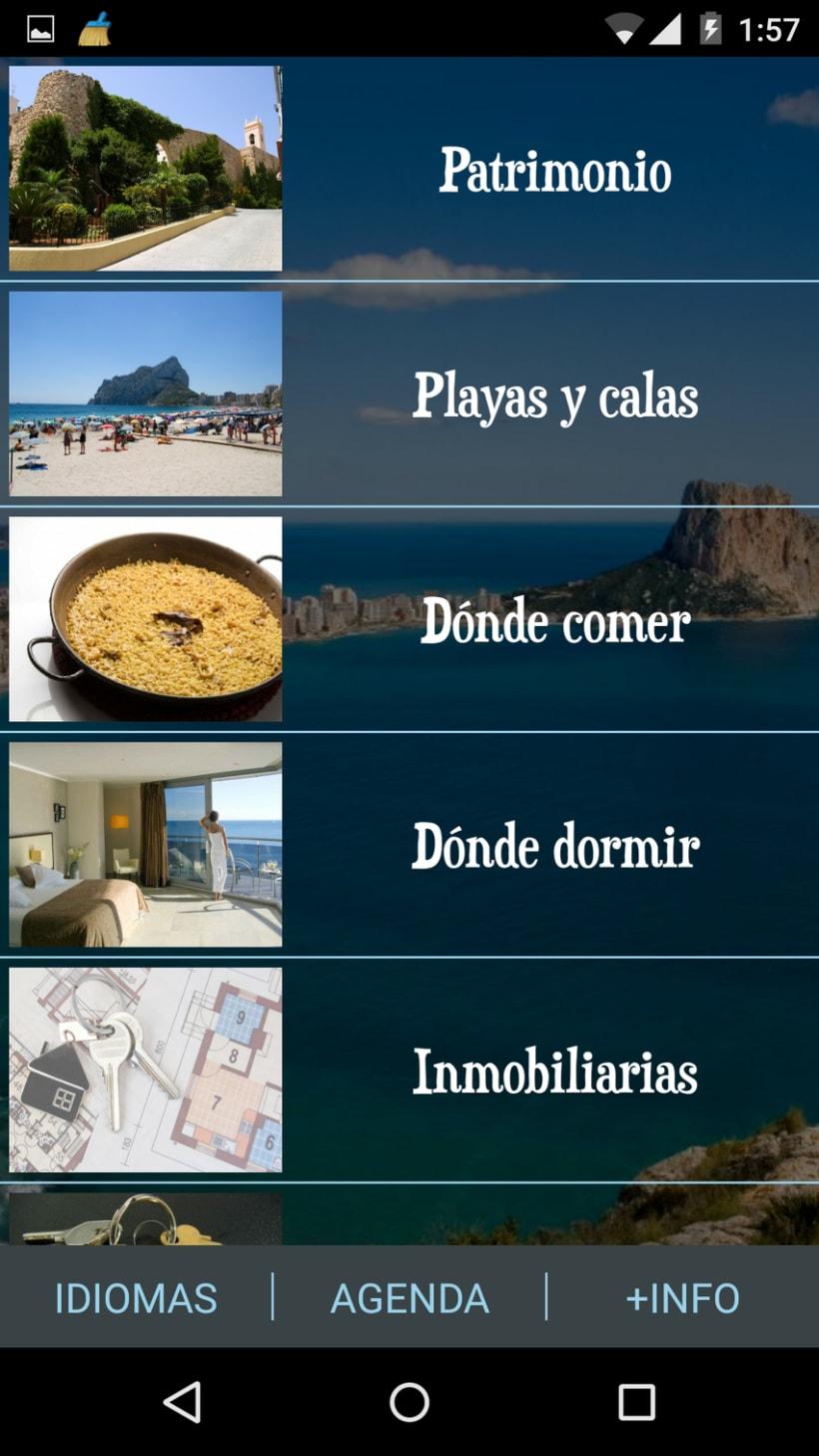 App Android. Guía turística. 3