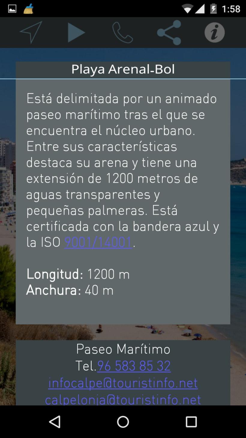 App Android. Guía turística. 7