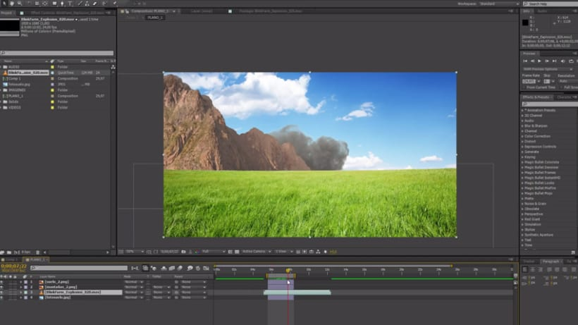"Proyecto del curso ""Movimiento retro en After Effects"" 9"