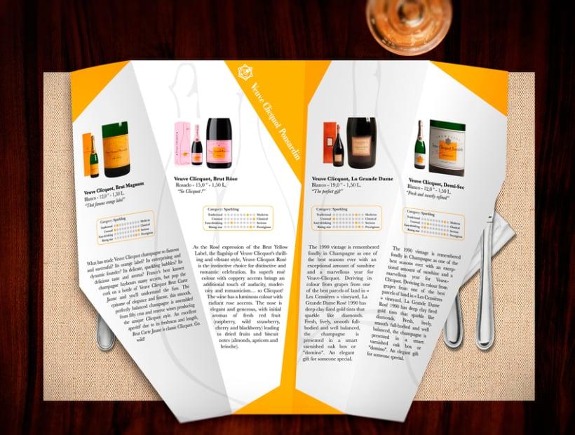 Folleto Champagne Veuve Clicquot Ponsardin 3