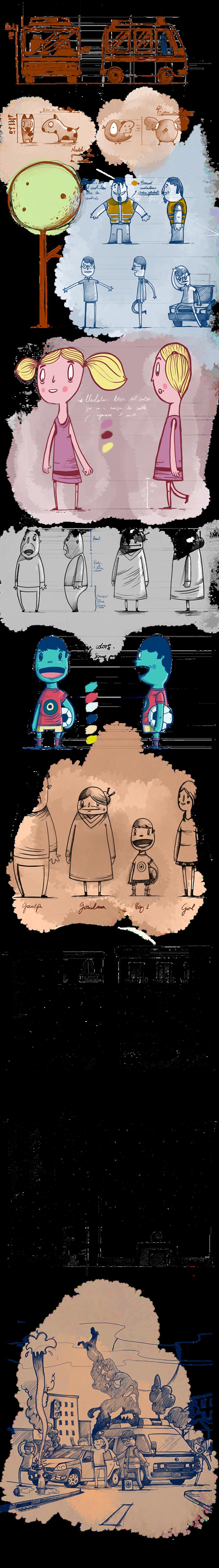 Diseño de personajes para Spot de TV 2