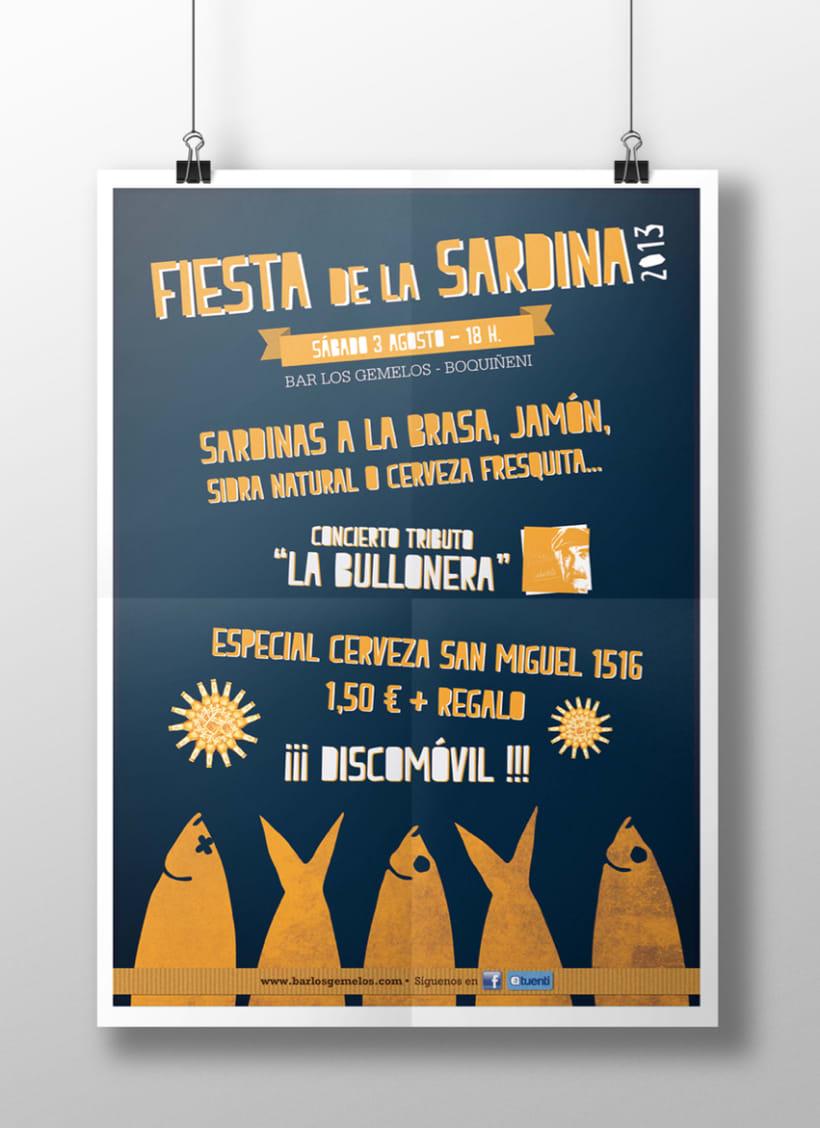Cartel Fiesta de la Sardina II 0