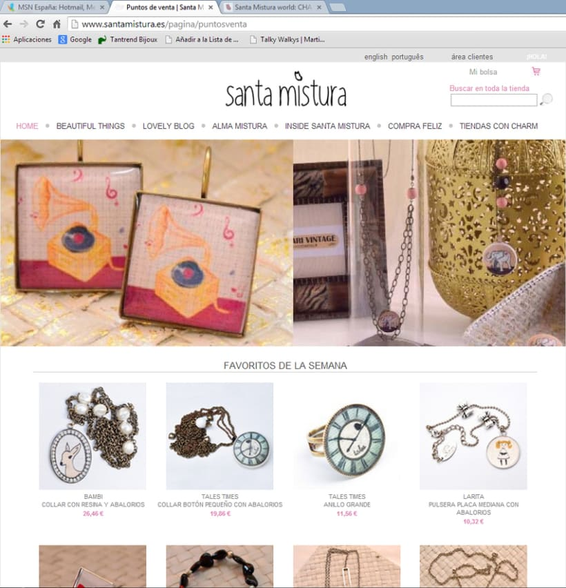 Web Design for Santa Mistura -1