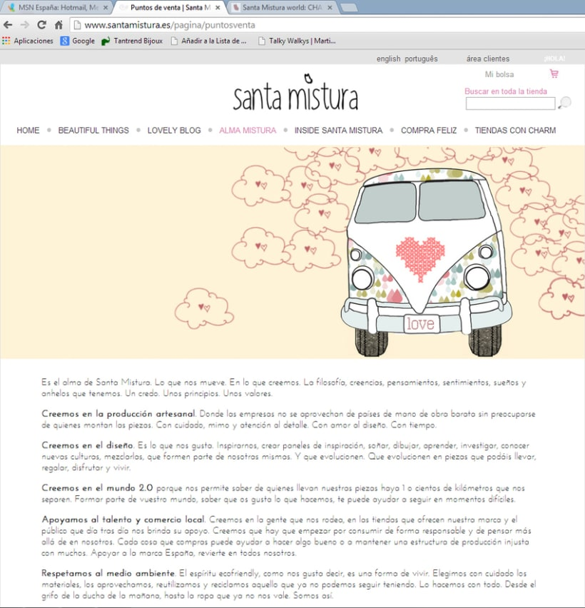 Web Design for Santa Mistura 2