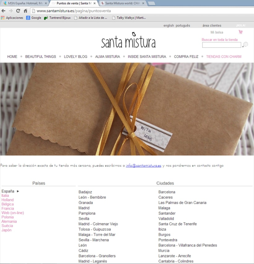 Web Design for Santa Mistura 5