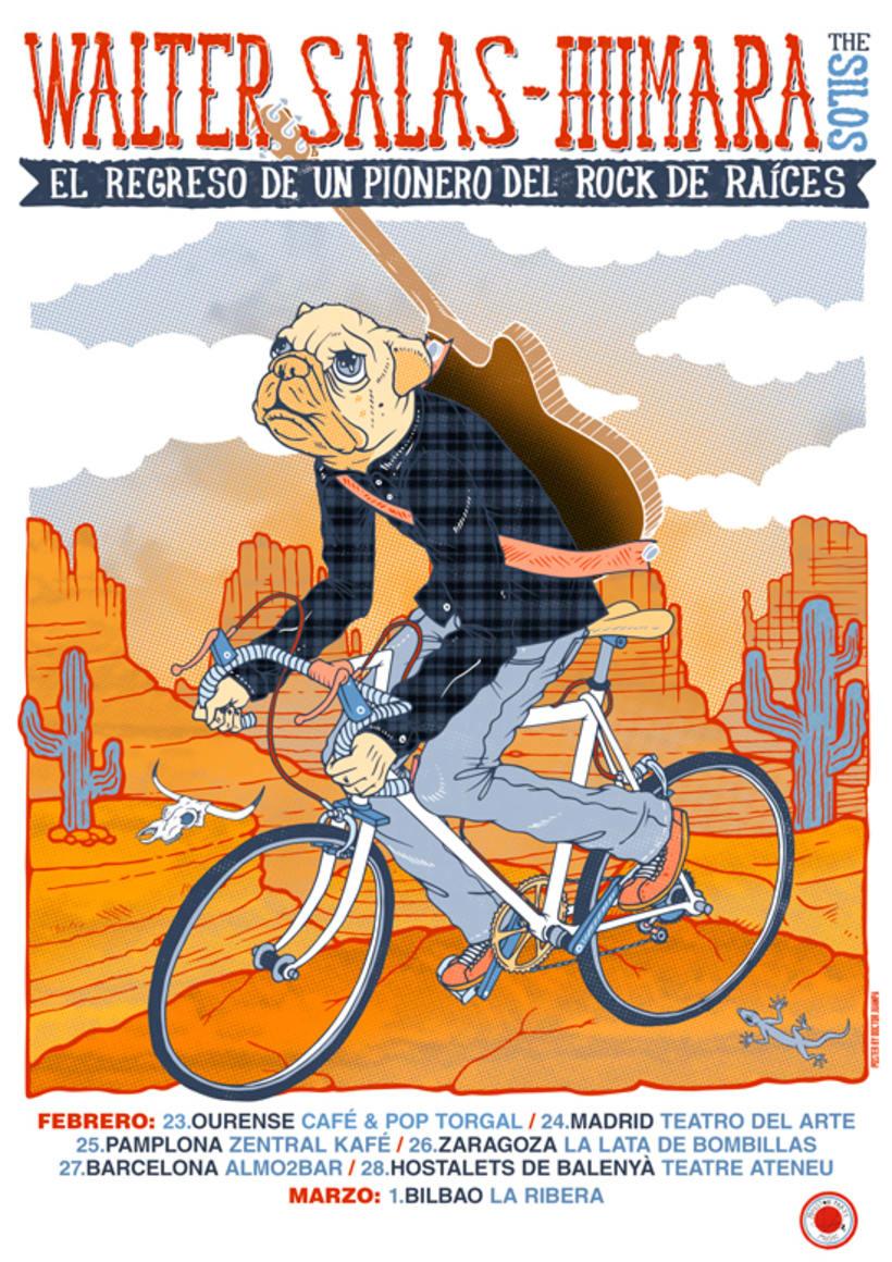 Walter Salas-Humara 2015 Spanish Tour Poster 9