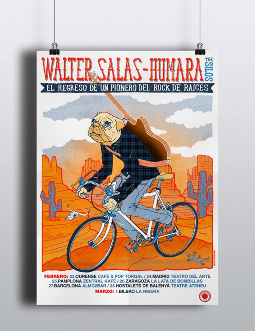 Walter Salas-Humara 2015 Spanish Tour Poster 15