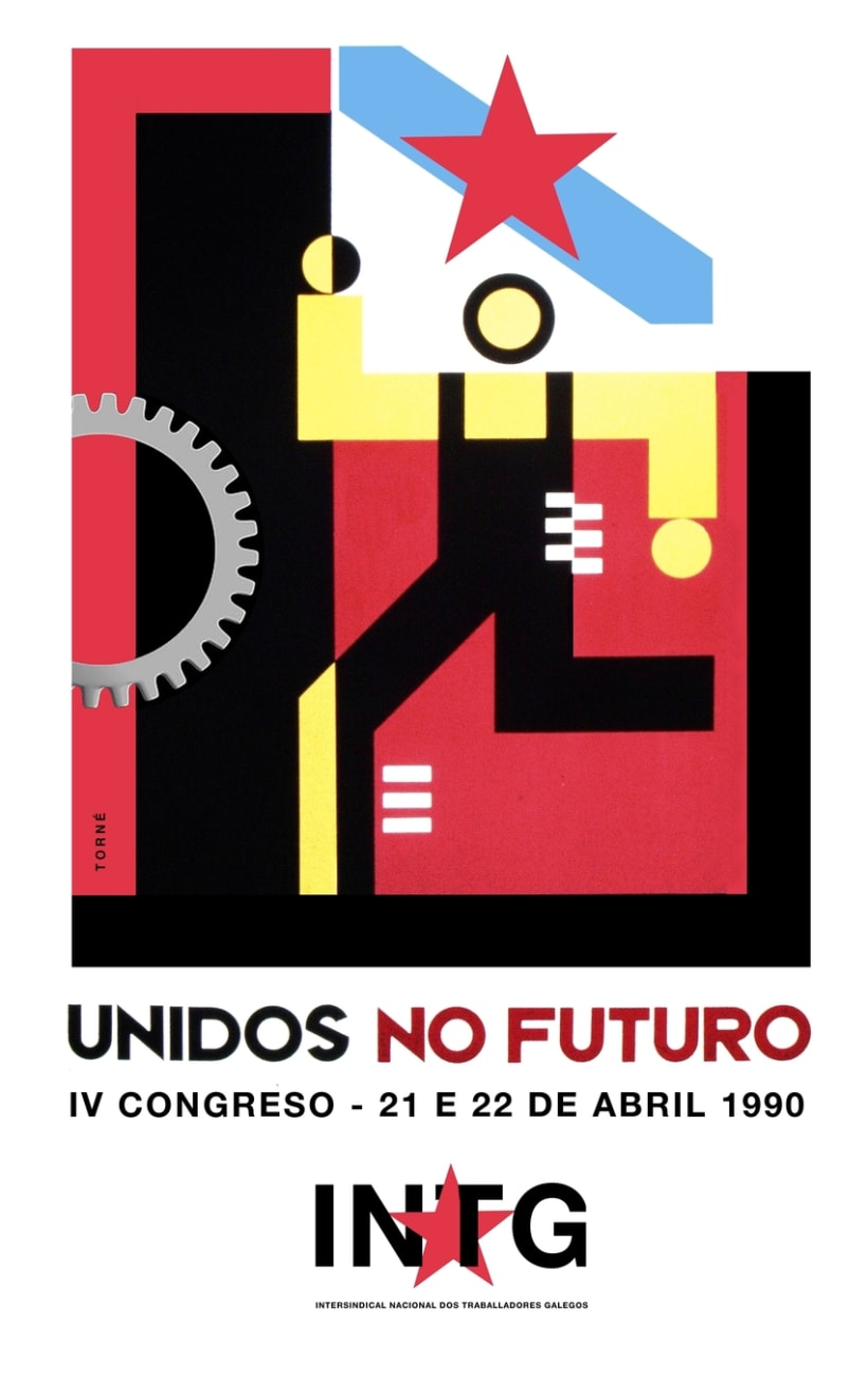 Sindicato nacionalista INTG, marca e gráfica IV Congreso 1
