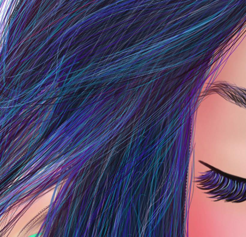 Mujer Azul. 2