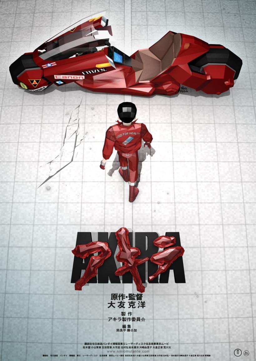 Poster AKIRA Low Poly 0