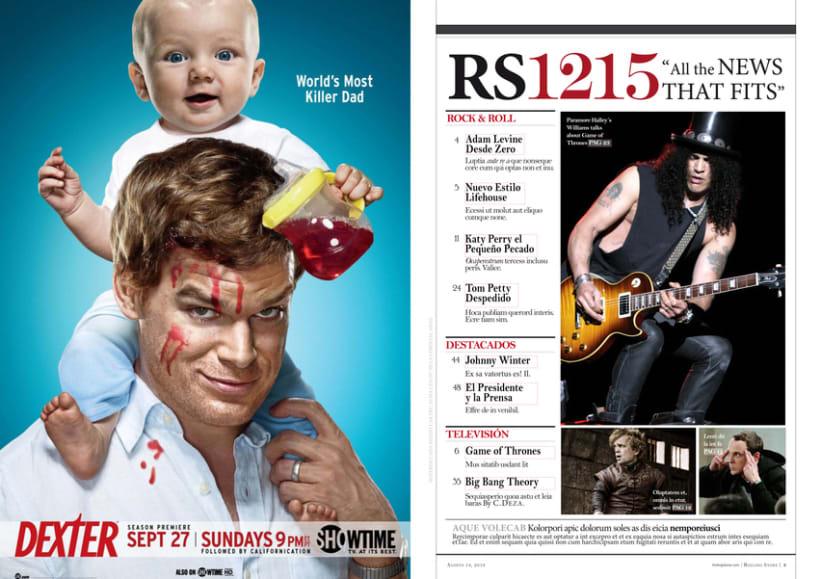 Revista Rolling Stone - Diseño 1