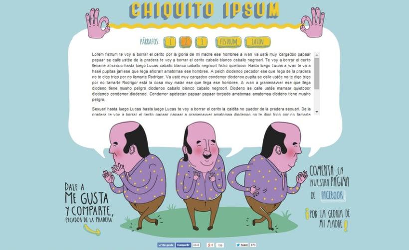 Diseño e ilustración para web Chiquito ipsum.com 1