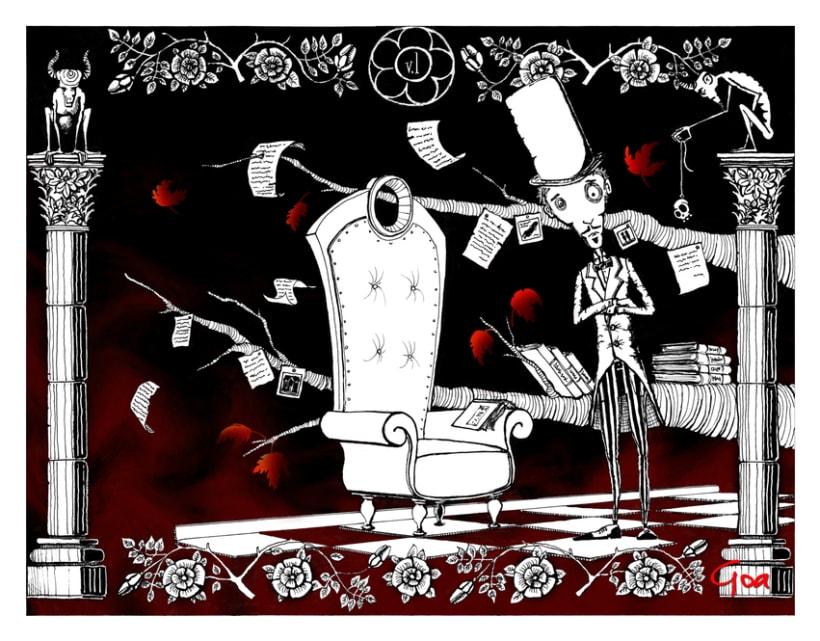 Ilustración Editorial: Crimenes de la calle Morgue. 1