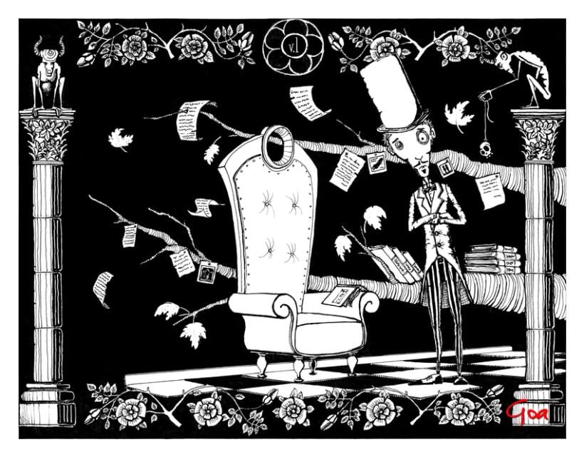 Ilustración Editorial: Crimenes de la calle Morgue. 0
