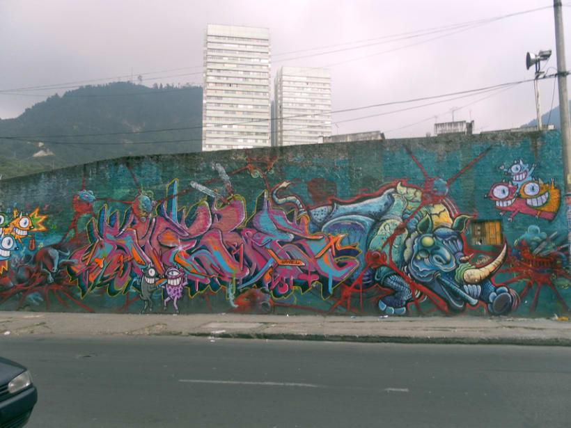 Fotografías de Grafitti del centro de Bogotá 5