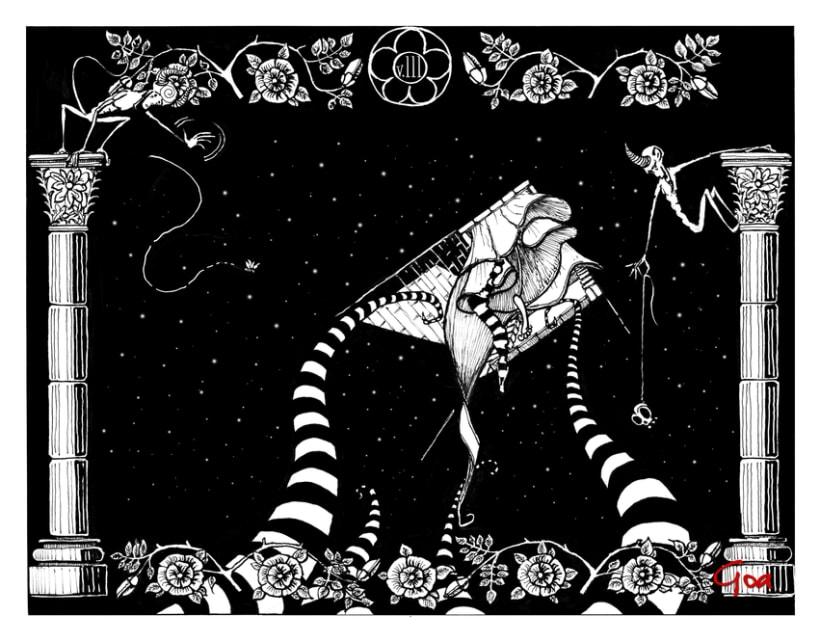 Ilustración Editorial: Crimenes de la calle Morgue. 4