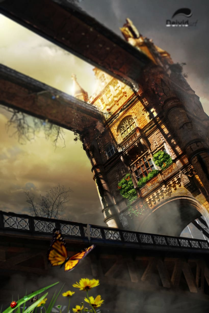 Matte painting - Tower in London 1
