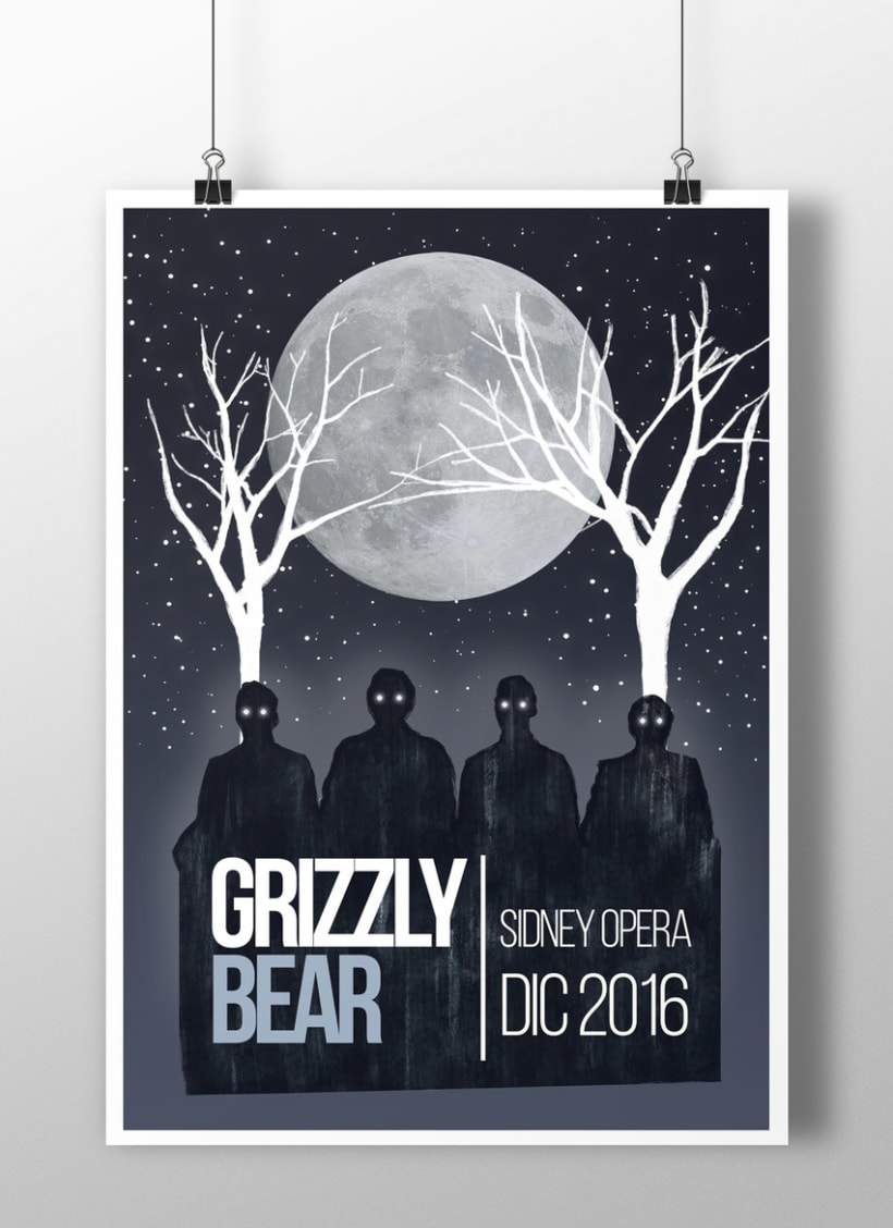 POSTER GRIZZLY BEAR  1