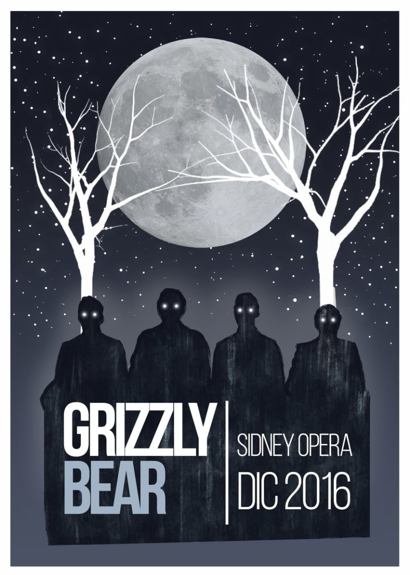POSTER GRIZZLY BEAR  0