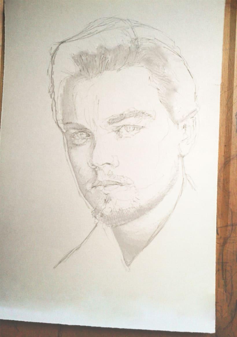 Portrait of Leonardo DiCaprio 1