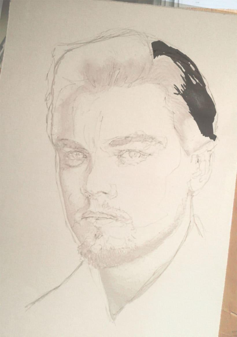 Portrait of Leonardo DiCaprio 2