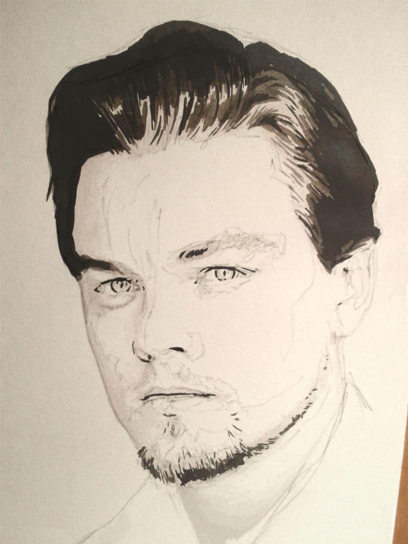 Portrait of Leonardo DiCaprio 4