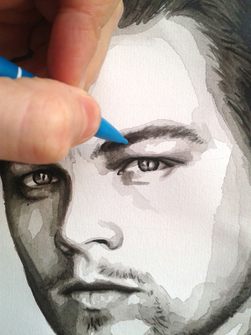 Portrait of Leonardo DiCaprio 13