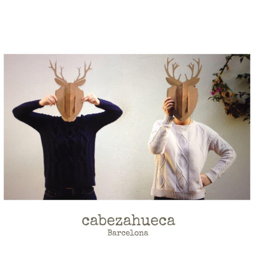 Cabezahueca Barcelona - Tu reno y ciervo de cartón 4