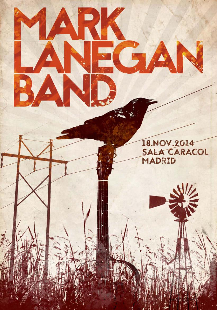 """Poster """"Mark Lanegan Band"""" -1"""