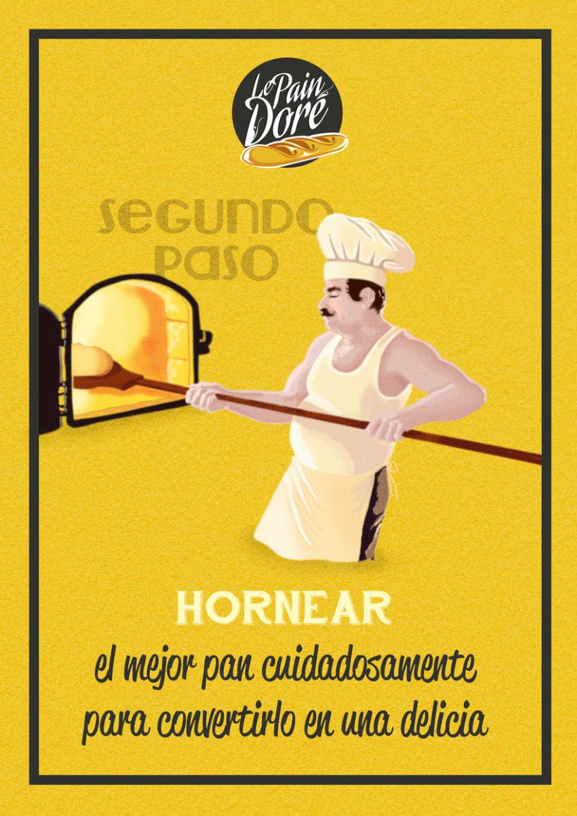 Propuesta de diseño para la panadería Le Pain Dore 0