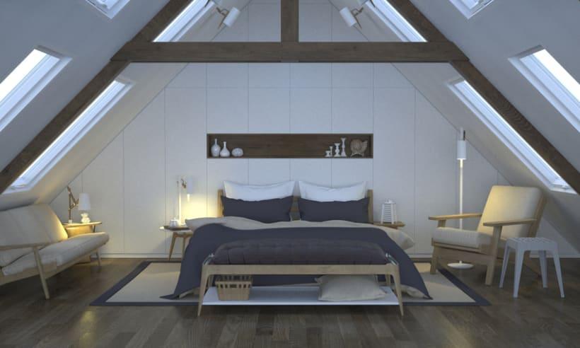 Dormitorio, de día y de noche -1