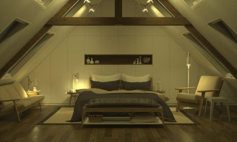 Dormitorio, de día y de noche 0