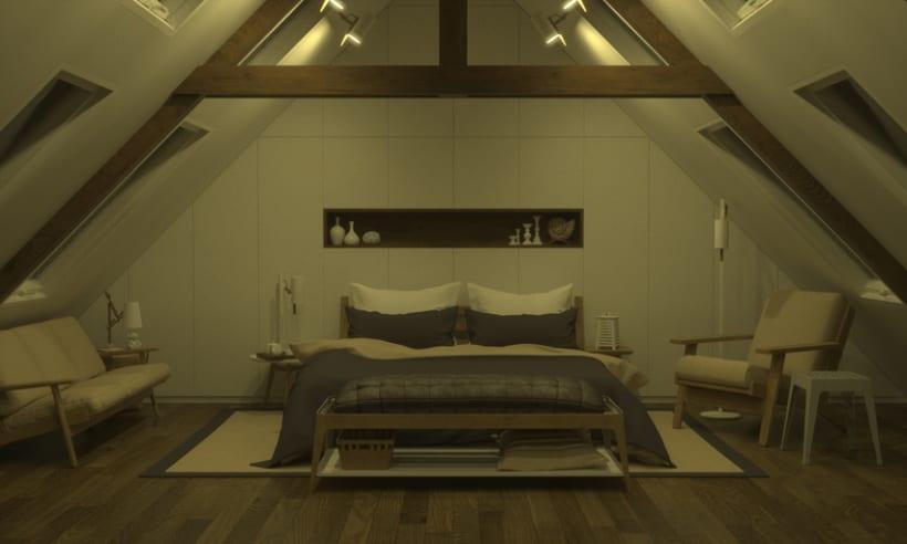 Dormitorio, de día y de noche 1