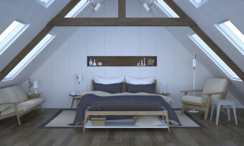 Dormitorio, de día y de noche 2